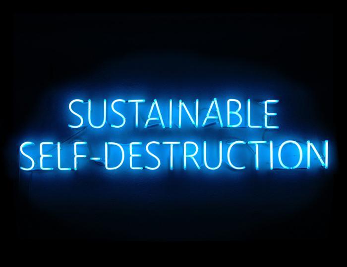 sustainable selfdestruction